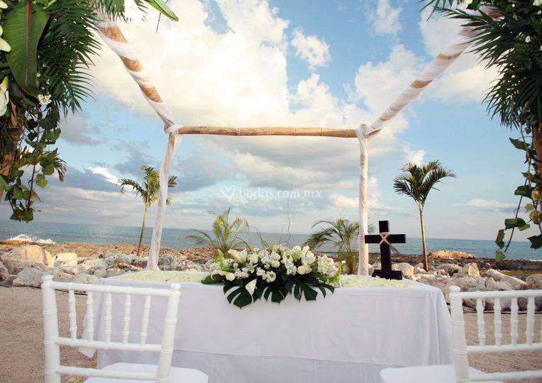 Ceremonias Religiosas frente al mar
