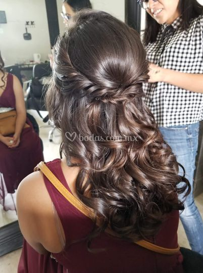 Peinado social damas