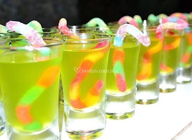 Shots con dulces