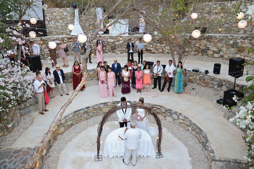 Ceremonia en pueblo mágico