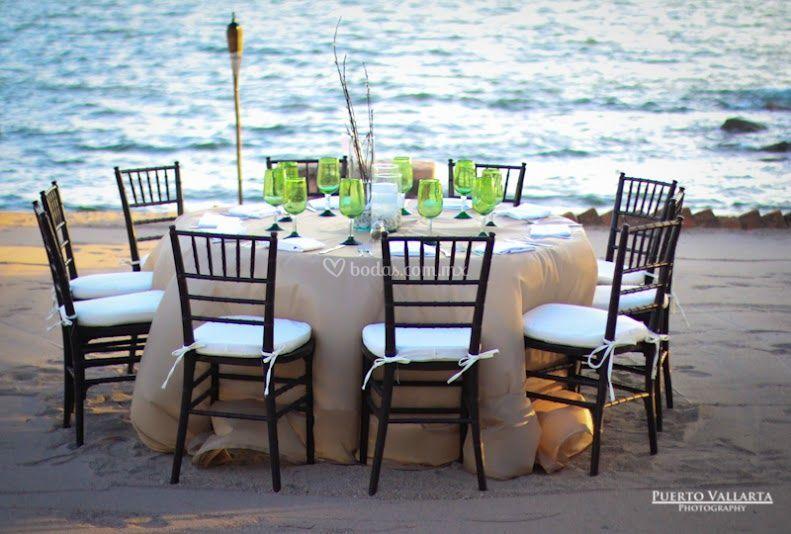Banquete deck de playa