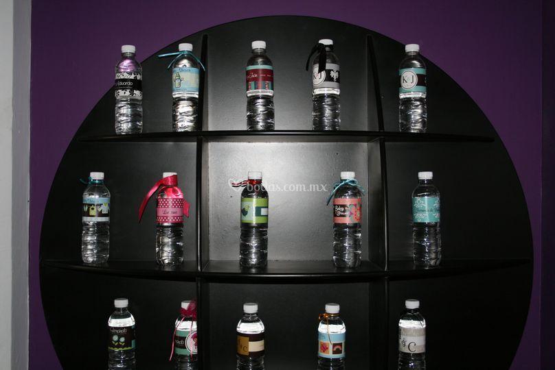 Etiquetas para agua