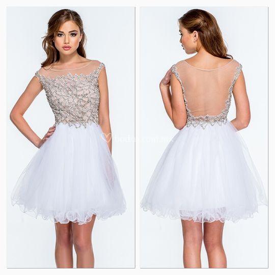 Renta de vestidos de novia cortos en monterrey