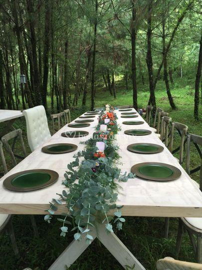 Bosque para bodas en valle