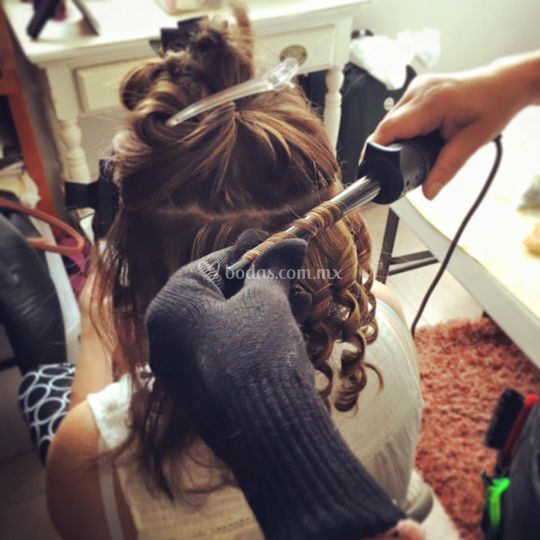 Peinado en proceso