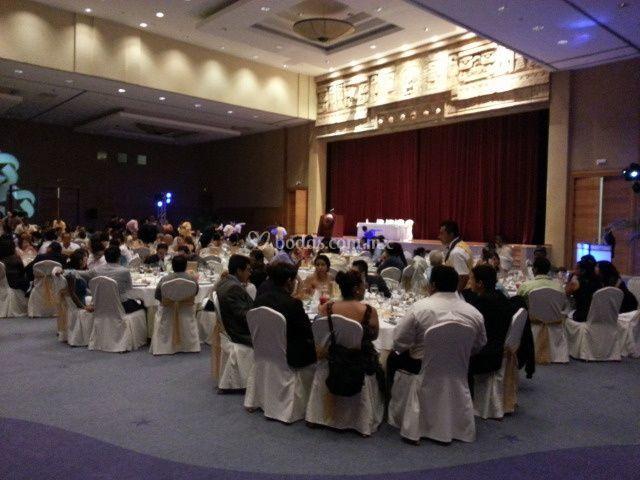 Salón para banquete de bodas
