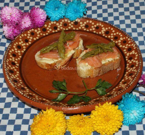 Tapas de salmón