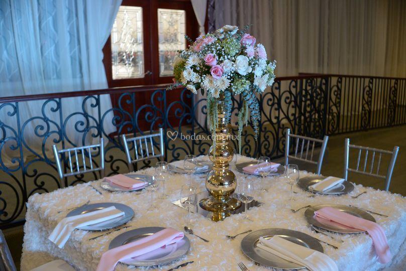 Romantico centro de mesa