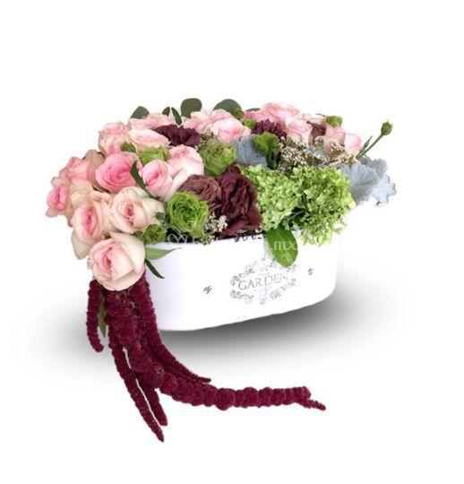 Base francesa con rosas