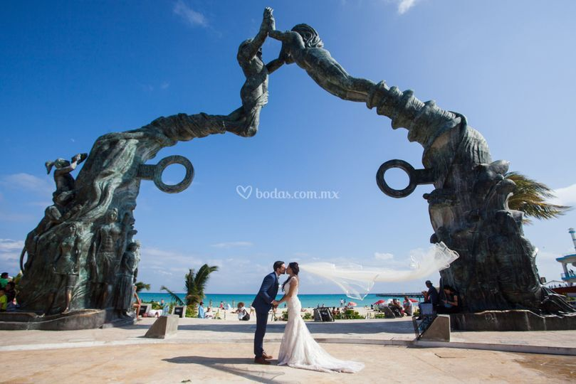 Wedding Ale y Kieran en Tulum