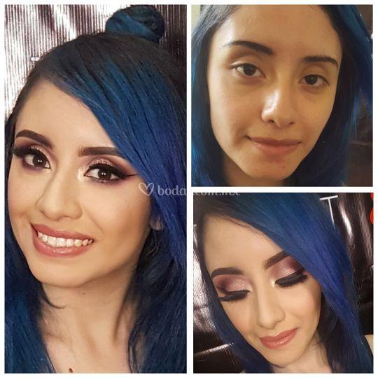 Maquillaje colores fríos