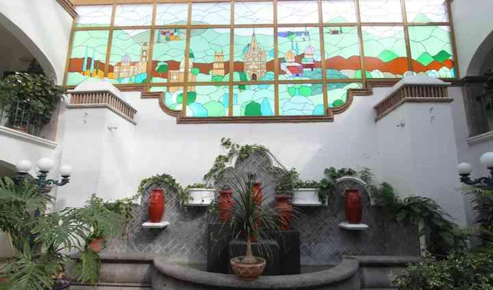 Fuente en patio central