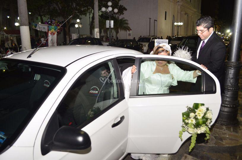 En camino a la ceremonia