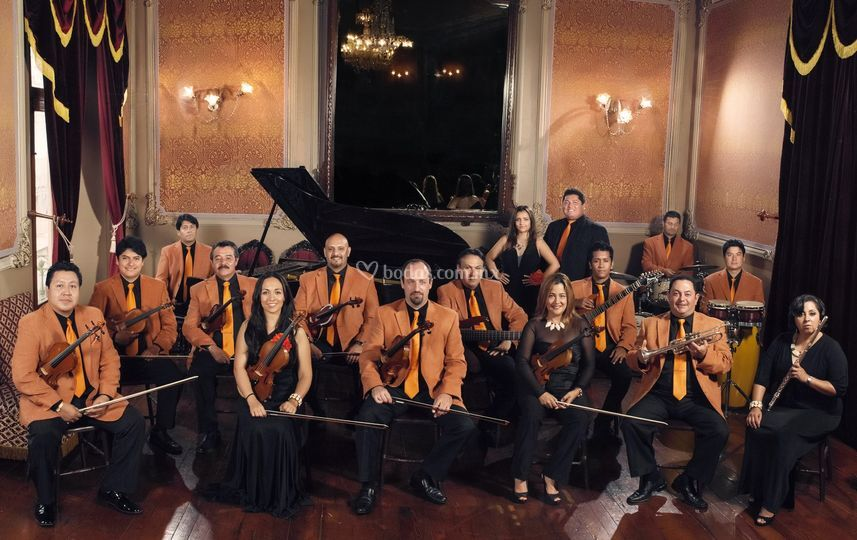 Orquesta con 15 integrantes