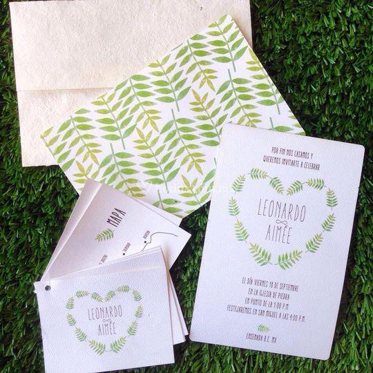 Invitaciones ecológicas