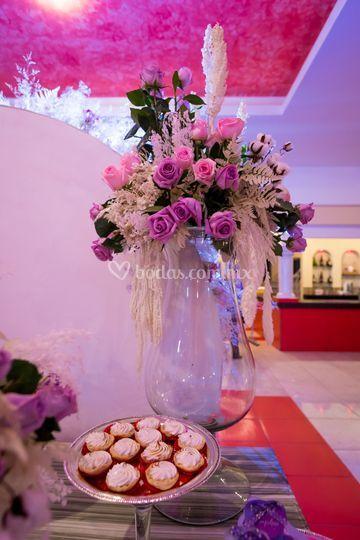 Bellos bouquets con rosas