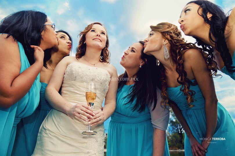 Con las damas