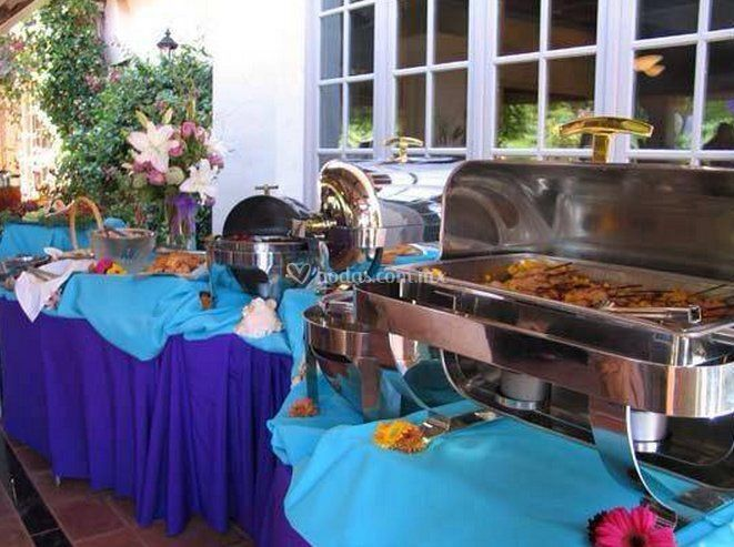 Mesas para el buffet