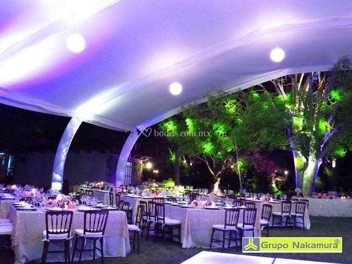 Montaje boda de noche de Grupo Nakamura