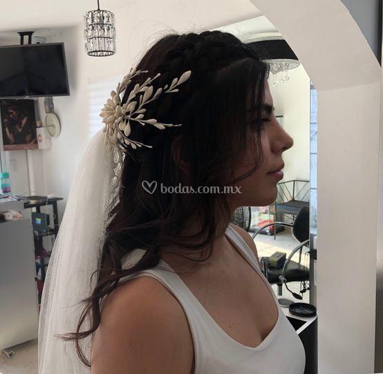 Peinado novia suelto
