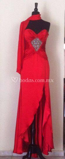 Vestido rojo  talla 4