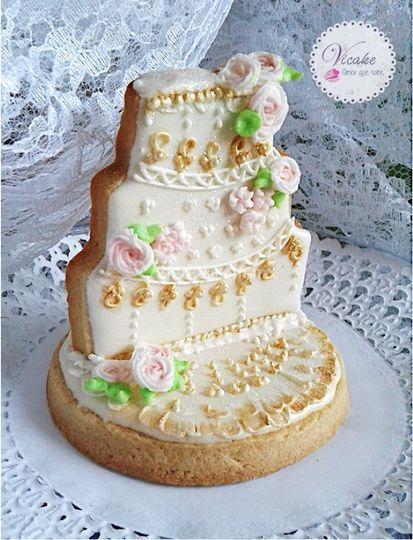 Galleta de boda pastel