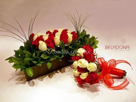 Centro de mesa y ramo de Beladona boutique floral