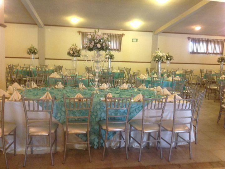 Centro de mesa boda vintage