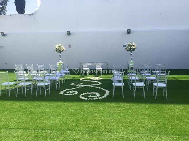 Hermoso jardín para ceremonias