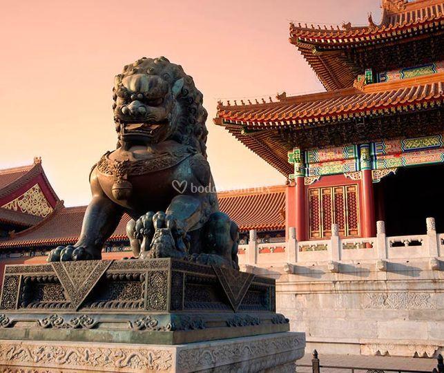 China para su luna de miel