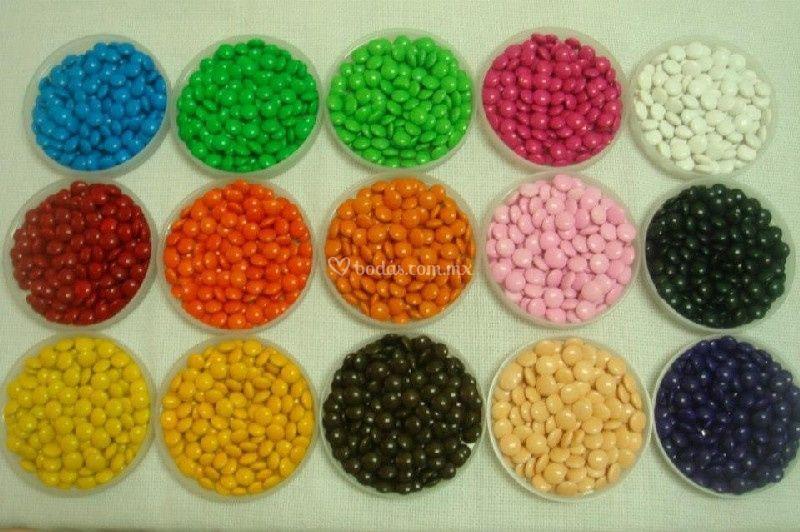 Chocolatinas tipo m&m
