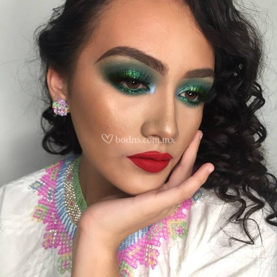 Maquillaje colorfull