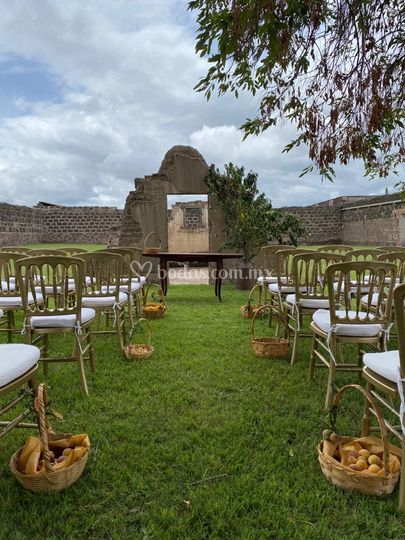 Ceremonia civil en jardin