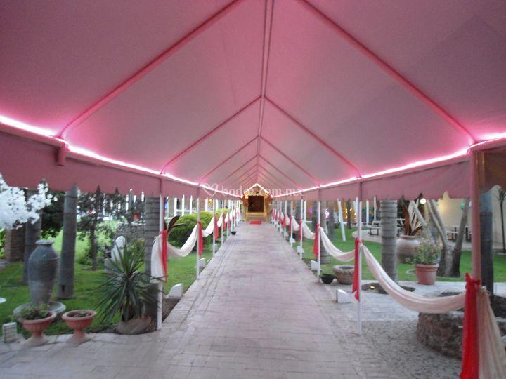 Pasillo iluminación de Quinta Tequimilpa