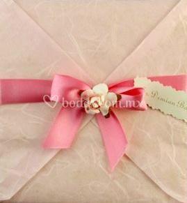 Invitación en rosa