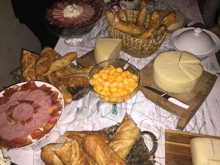Barra de quesos