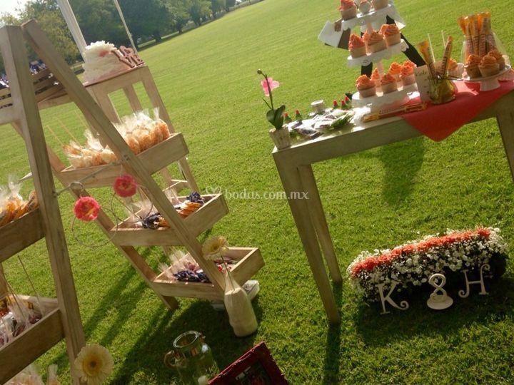 Mesa de dulces boda K&H