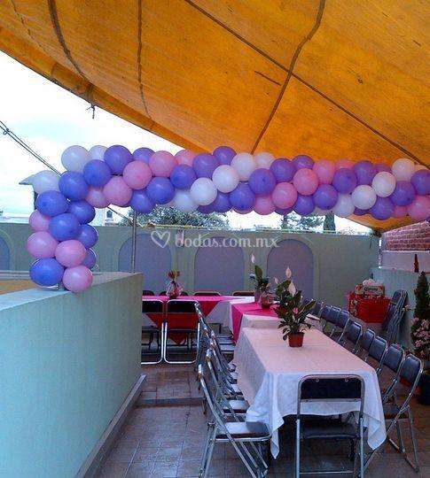 decoración de salón de sin globos no hay fiesta | foto 2