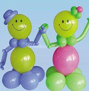 Muñecos en globos