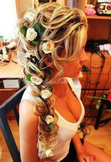 Hermoso peinado para novia