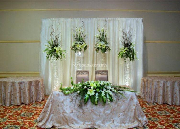 Arreglos florales piscis Arreglos para boda en salon