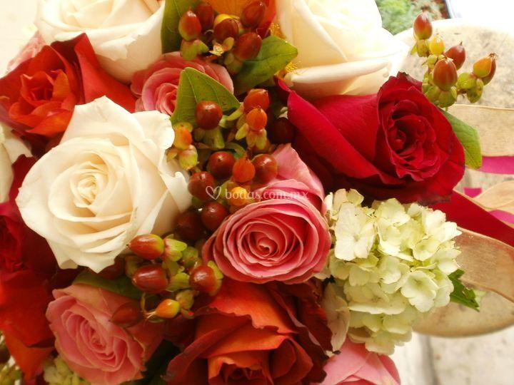 Ramo en bouquet detalle