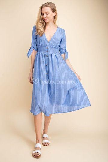 5938 vestido corto de día