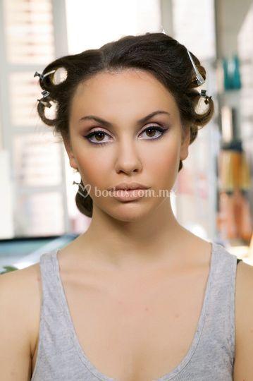 Prueba de Maquillaje y Peinado