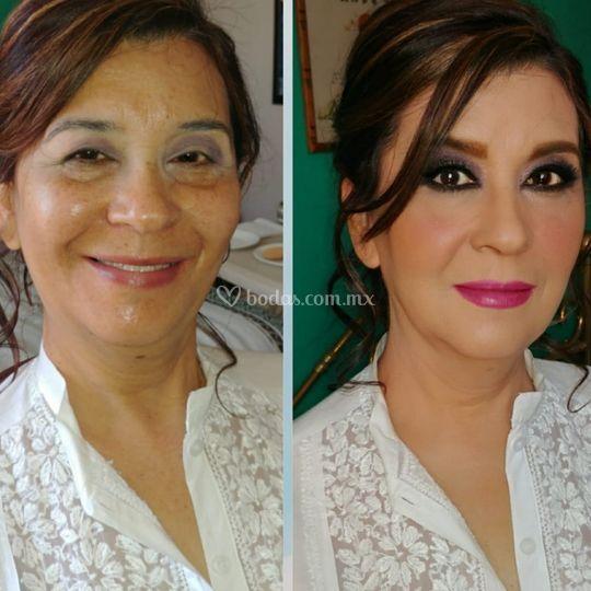 Maquillaje mamá de la novia