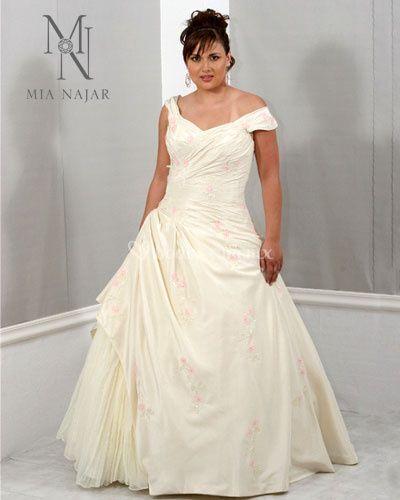 Vestido de novia en tafeta