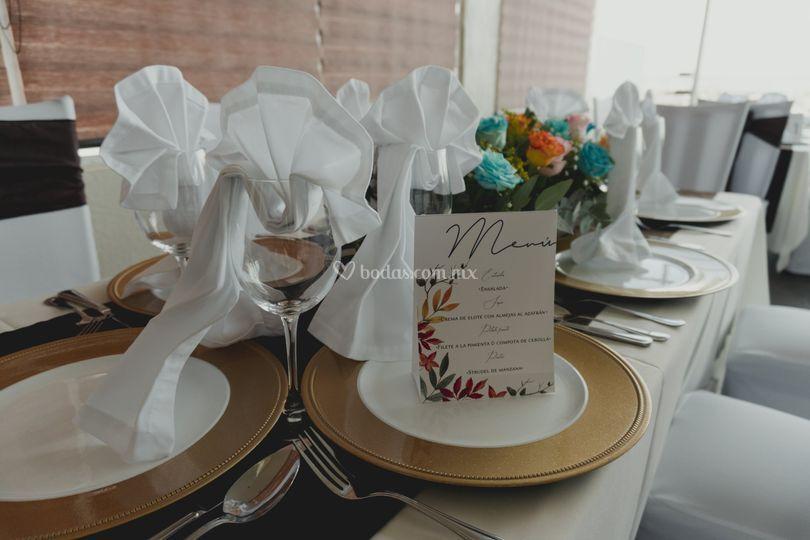 Montaje boda salón