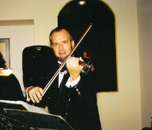 Música de violín para su cena