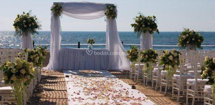 Su boda frente al mar