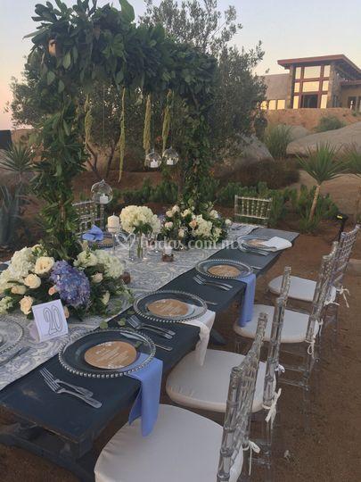 Mesa de los invitados